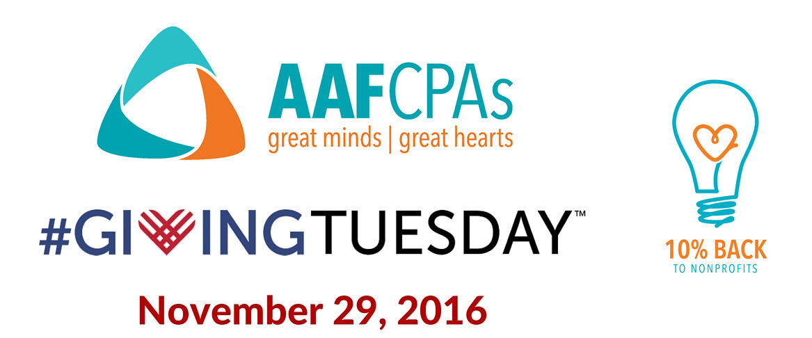 AAFCPAs Participated in #GivingTuesday to Celebrate and Encourage Giving