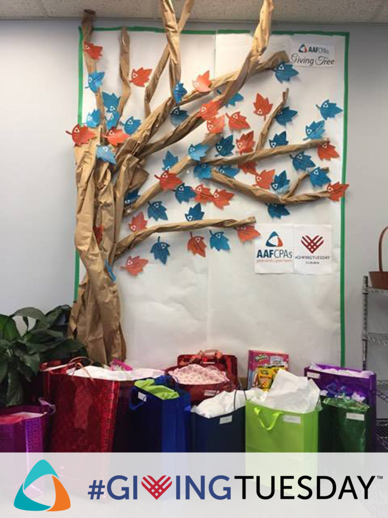 AAFCPAs Giving Tuesday Giving Tree