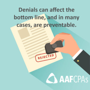 Third-Party Payer Denials can affect the bottom line, and in many cases are preventable
