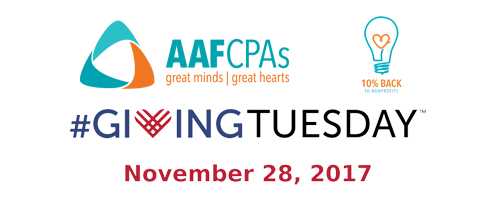 AAFCPAs Participates Again in #GivingTuesday to Celebrate and Encourage Giving