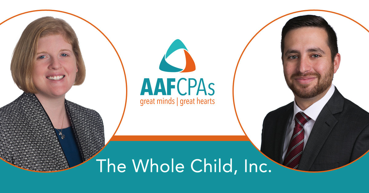 AAFCPAs Morrison, Bloom to Serve on Board at The Whole Child, Inc.