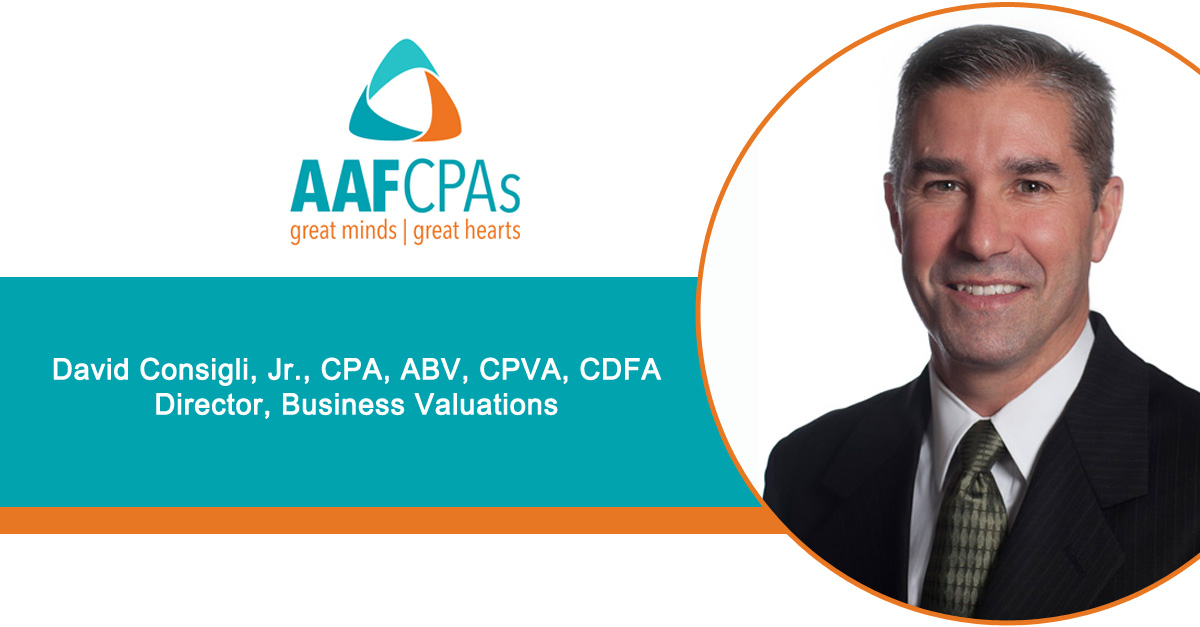 AAFCPAs David Consigli, CPA, ABV to Present at Academy of Professional Family Mediators