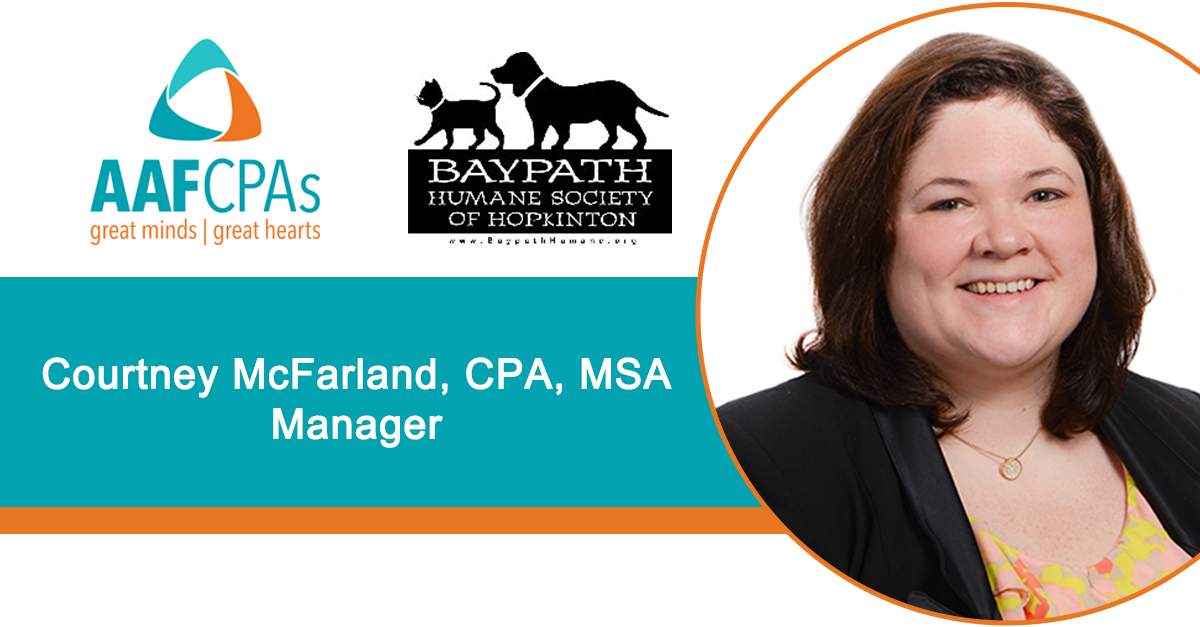 AAFCPAs' Courtney McFarland to Serve on Board of Baypath Humane Society