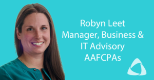 Robyn Leet, Manager, AAFCPAs