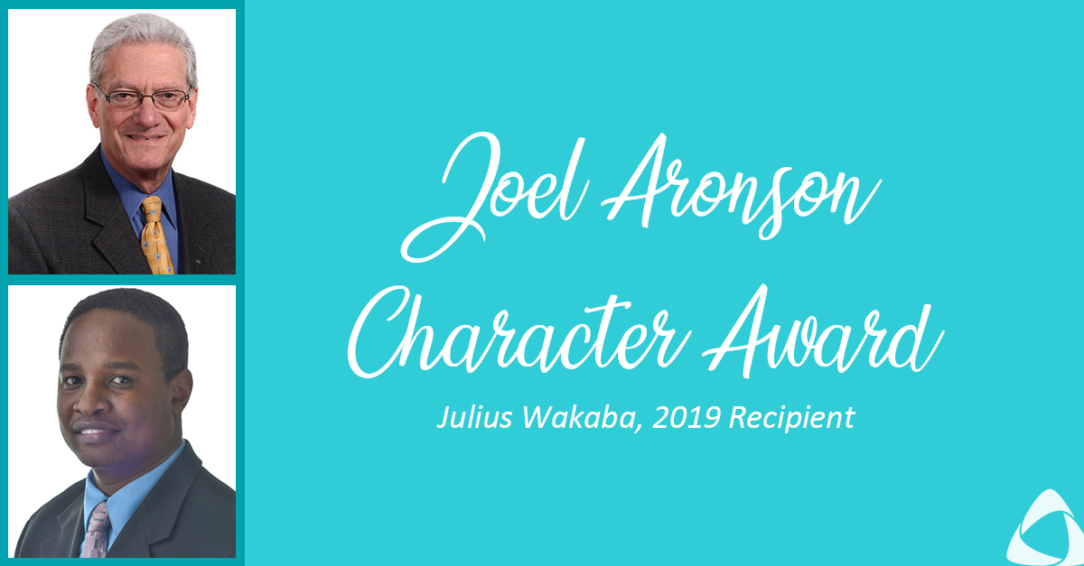 AAFCPAs Announces Joel Aronson Character Award and 1st Recipient