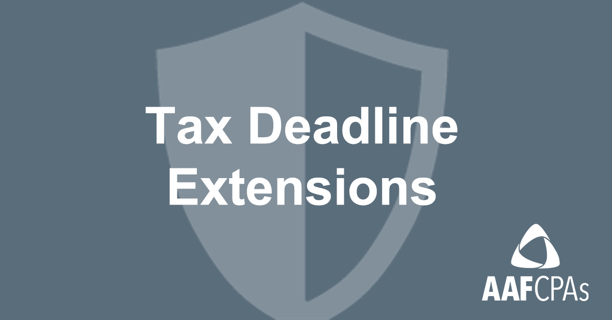 IRS Extends More Tax Deadlines for Individuals and Businesses