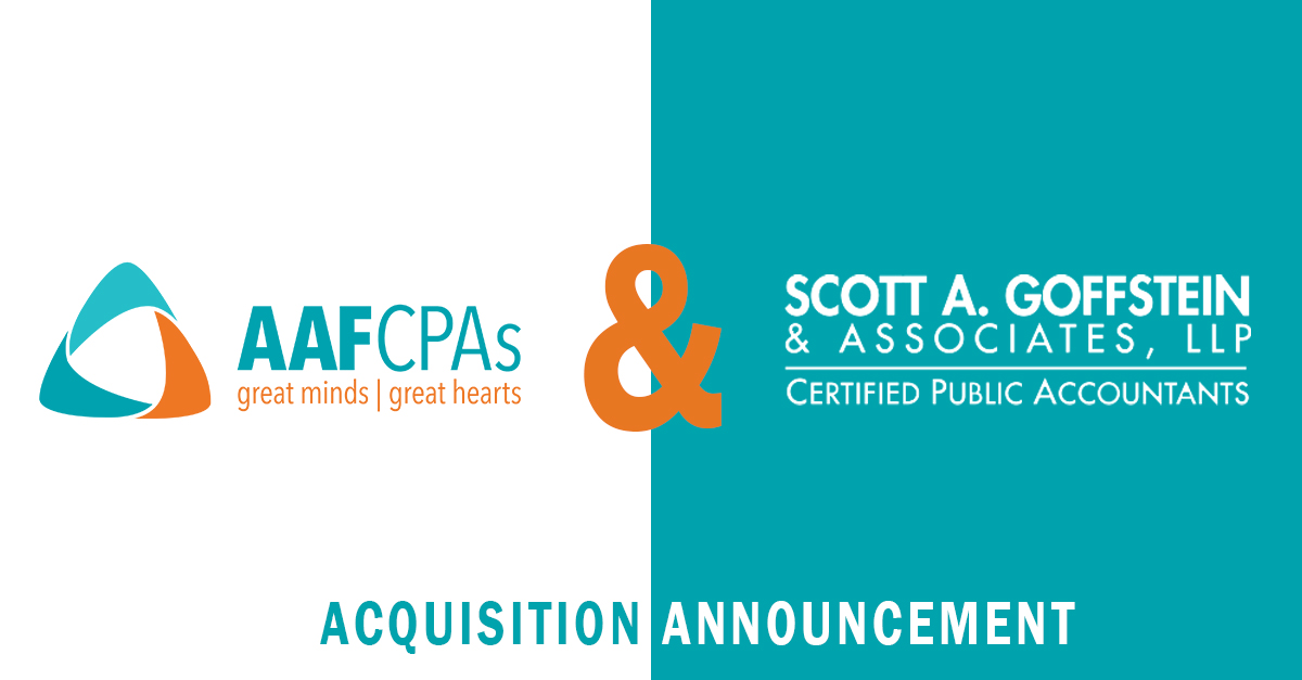 AAFCPAs Acquires Scott A. Goffstein & Associates
