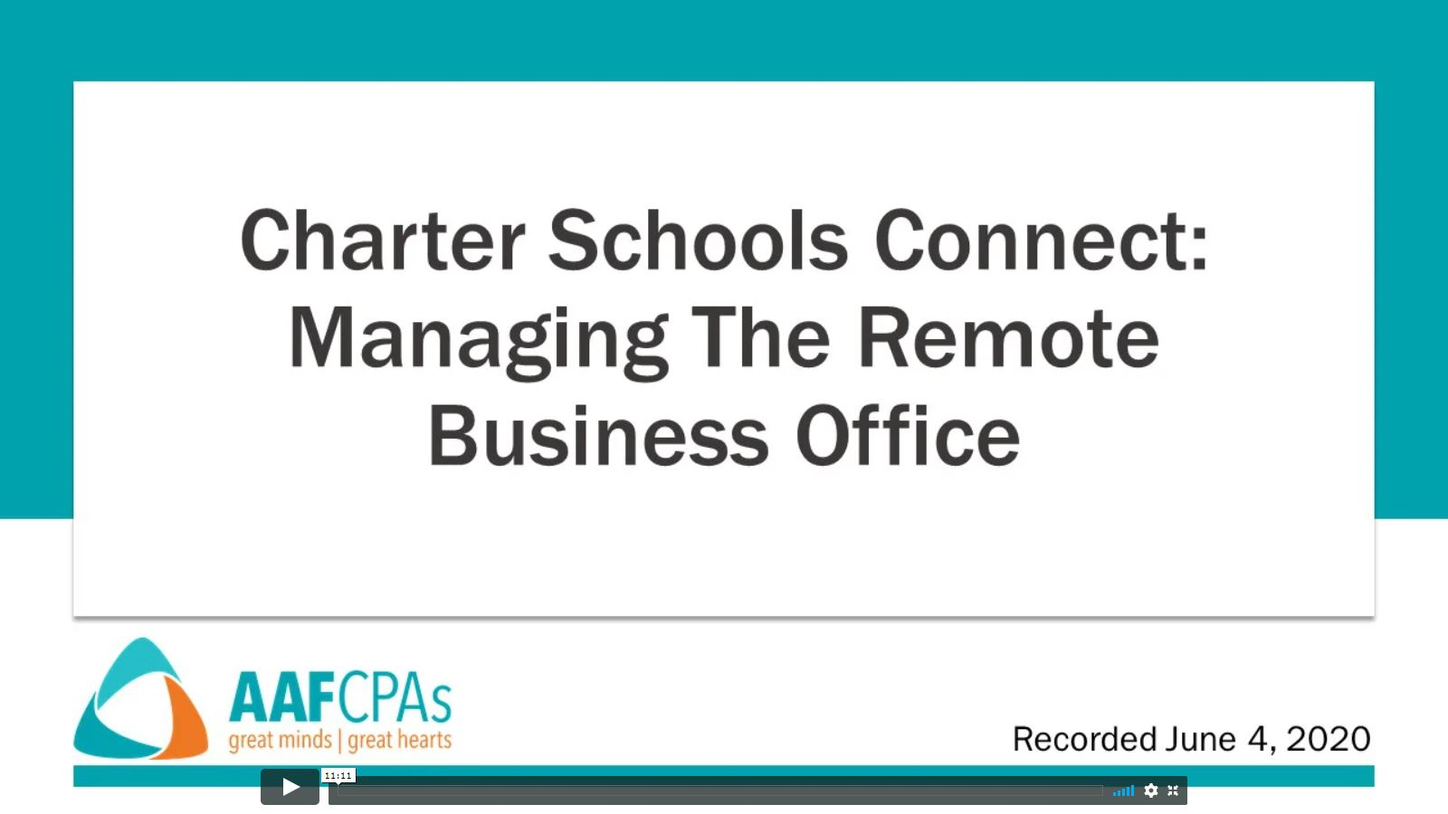 Charter Schools Connect: Managing the Remote Business Office
