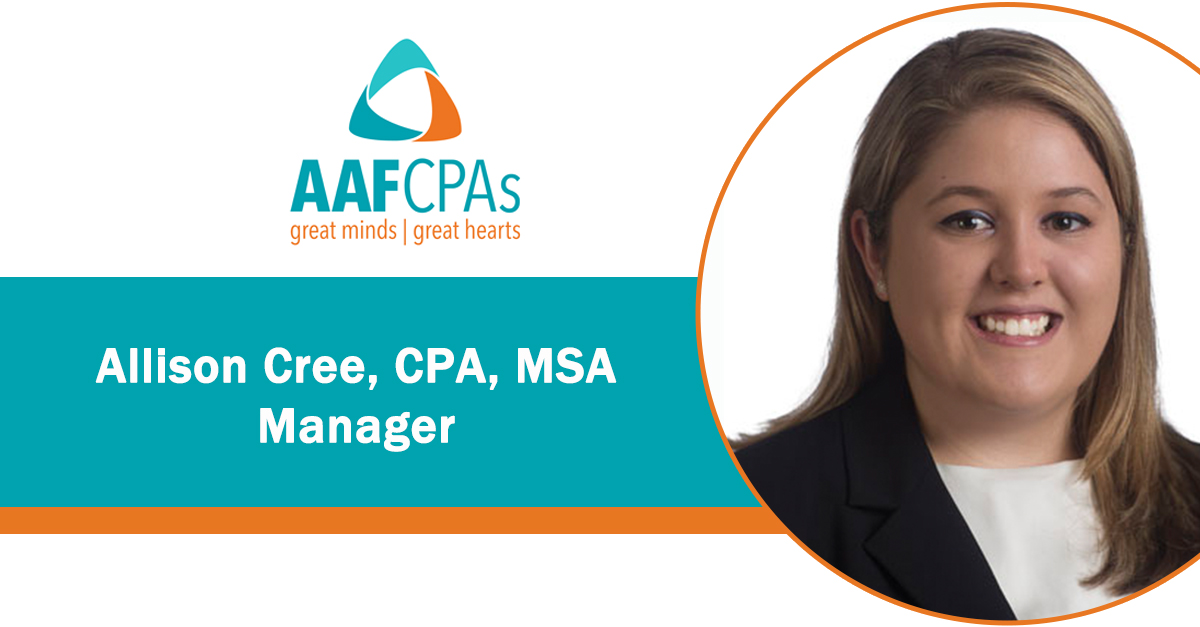 AAFCPAs Promotes Allison Cree to Manager, Supporting Firm Growth